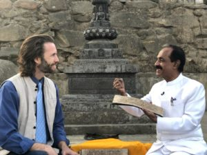 """(Dr. Naram sharing the Ancient Secrets with Dr. Clint G. Rogers, author of the book """"Ancient Secrets of a Master Healer"""")"""